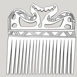 Download free 3D printer templates Viking Comb, Snorri