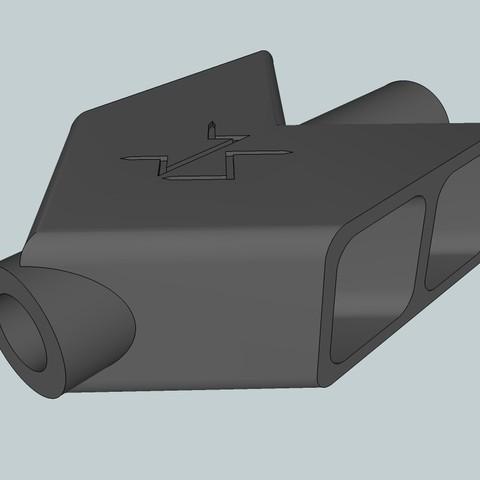 Free 3D print files Barrett Airsoft Flash Hider, Snorri