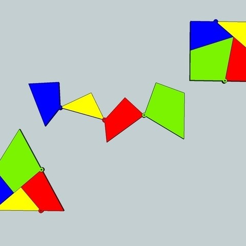 Download free STL files Shape Shifting geometry - Triangle Square, Snorri
