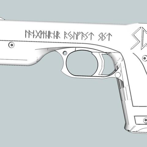 Download free 3D printer designs Rubber band gun, Snorri