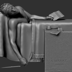 Download free 3D printing designs The Death of Marat - Jacques-Louis David, Snorri