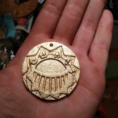Free stl file Médaillon d'or des Mystérieuses Cités d'or, The Mysterious Cities of Gold, Snorri