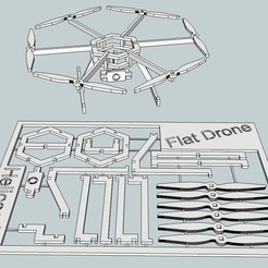 Download free STL files Flat Drone, Snorri
