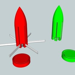 Free 3D printer files CO2 Rocket, Snorri
