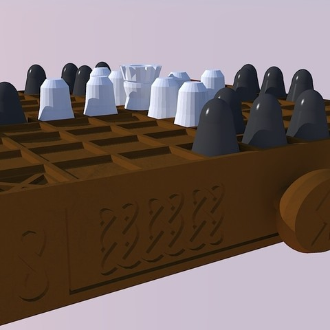 7d108db512f6a6a929cd0d0ad3b593e8_display_large.jpg Download free STL file Tablut, Viking Board Game • 3D printing model, Snorri