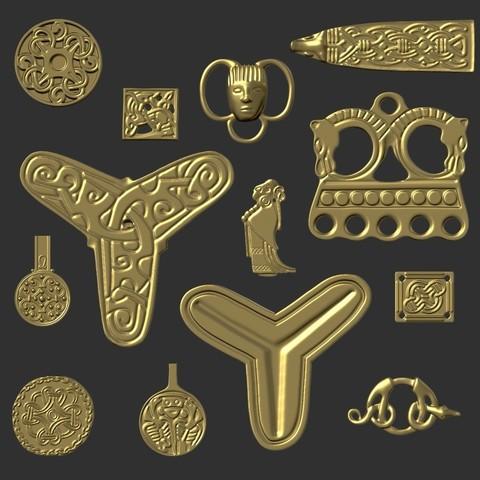 Archivos STL Paquete de joyas Viking, Snorri