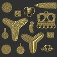 Descargar modelo 3D Paquete de joyas Viking, Snorri