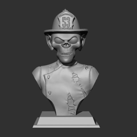 Télécharger fichier 3D gratuit Pompier zombie, Snorri