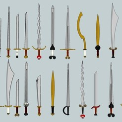 Download free STL 11011 miniature Swords !, Snorri