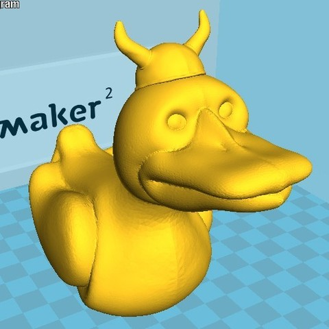 Fichier imprimante 3D gratuit canard viking, Snorri