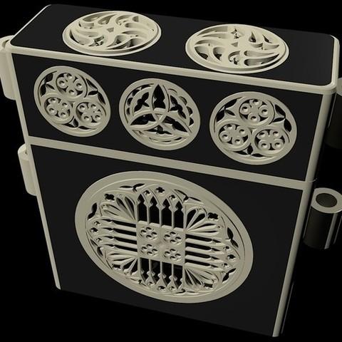 13a692c7928b6cb7f9909ed6ddbfac01_display_large.jpg Download free STL file XVTh century Book case • 3D printable model, Snorri