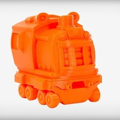 TRAIN_display_large.jpg Download free STL file Lucky Locomotive • Design to 3D print, CoryDelgado