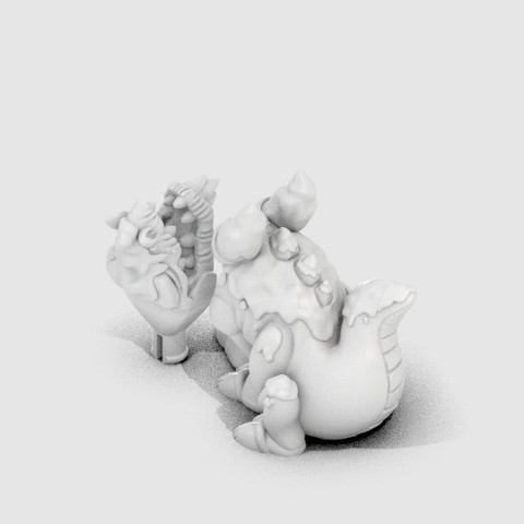 DG_Frozentail_display_large.jpg Download free STL file Frozentail the Ice Dragon • 3D printing design, CoryDelgado