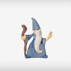 Free STL file Rolf the Wizard, MagicEddy