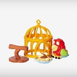 Free 3D printer designs Etta the Parrot, MagicEddy