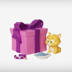 Download free 3D printer designs Cleo the Kitten, MagicEddy