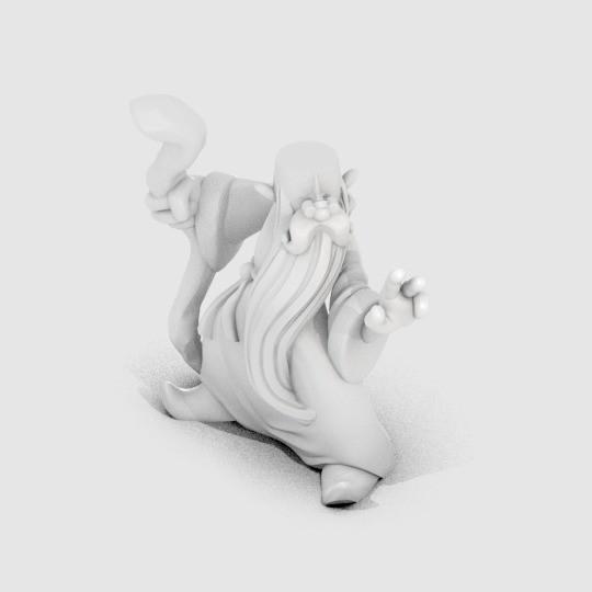 DG_RolfWizard_display_large.jpg Download free OBJ file Rolf the Wizard • 3D printable template, MagicEddy