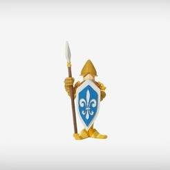 Modelos 3D gratis Cedric el guardia del castillo, MagicEddy