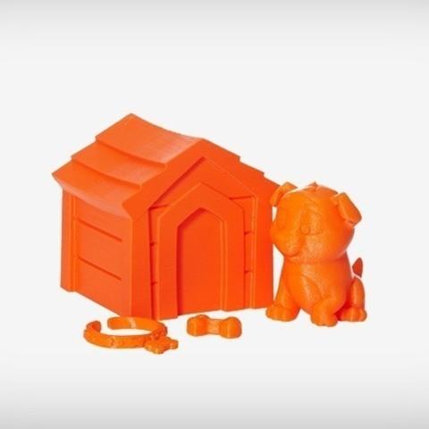 Niko_01_display_large.jpg Download free STL file Niko the Puppy • 3D printable design, MagicEddy