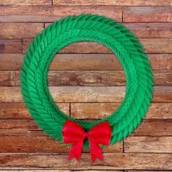 Free STL file Holiday Wreath, alterboy987
