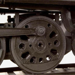 Free stl files Drive Wheel 4-8-8-4 Big Boy Locomotive, RaymondDeLuca
