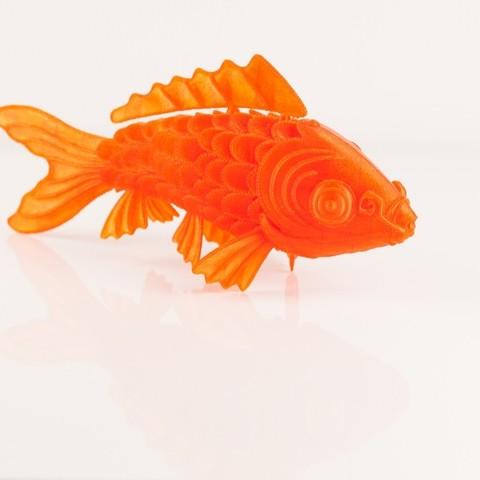 IMG_8475_display_large.jpg Download free STL file 'On Such a Full Sea' Koi Fish • 3D printable design, RaymondDeLuca