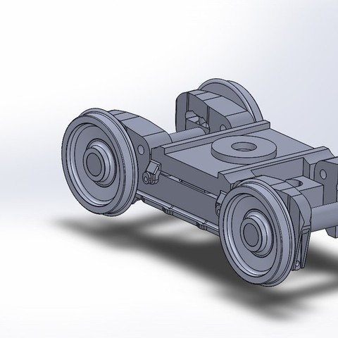 Engine_Truck_display_large.jpg Download free STL file 4-8-8-4 Big Boy Locomotive • 3D printer object, RaymondDeLuca
