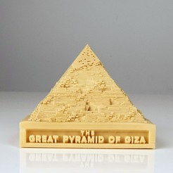 Free 3D printer model The Great Pyramid of Giza, RaymondDeLuca