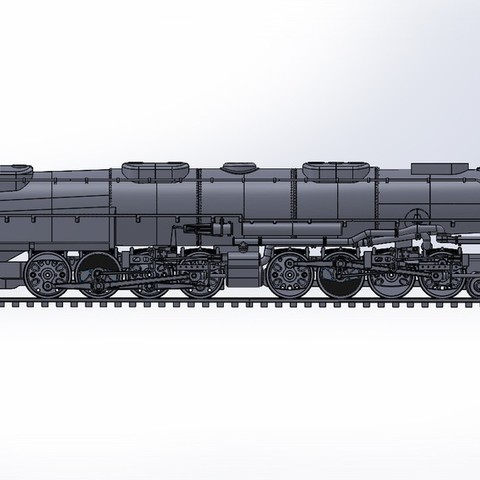 BIG_BOY_LOCOMOTIVE_Side_View_display_large.jpg Download free STL file 4-8-8-4 Big Boy Locomotive • 3D printer object, RaymondDeLuca