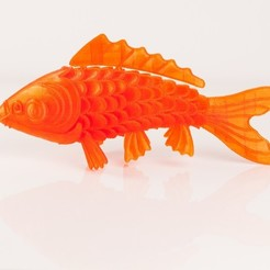Download free 3D printer files 'On Such a Full Sea' Koi Fish, RaymondDeLuca