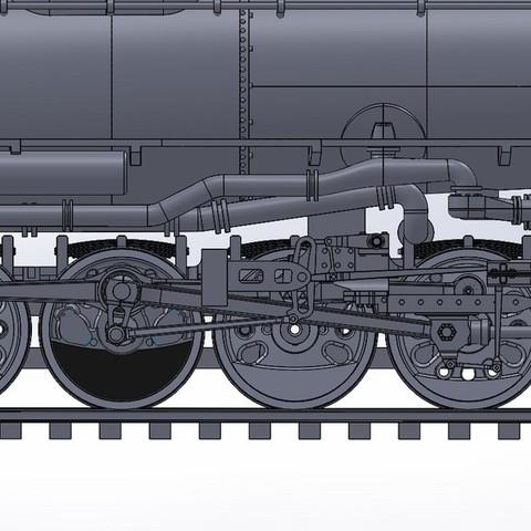 Front_Engine_Close_Up_display_large.jpg Download free STL file 4-8-8-4 Big Boy Locomotive • 3D printer object, RaymondDeLuca