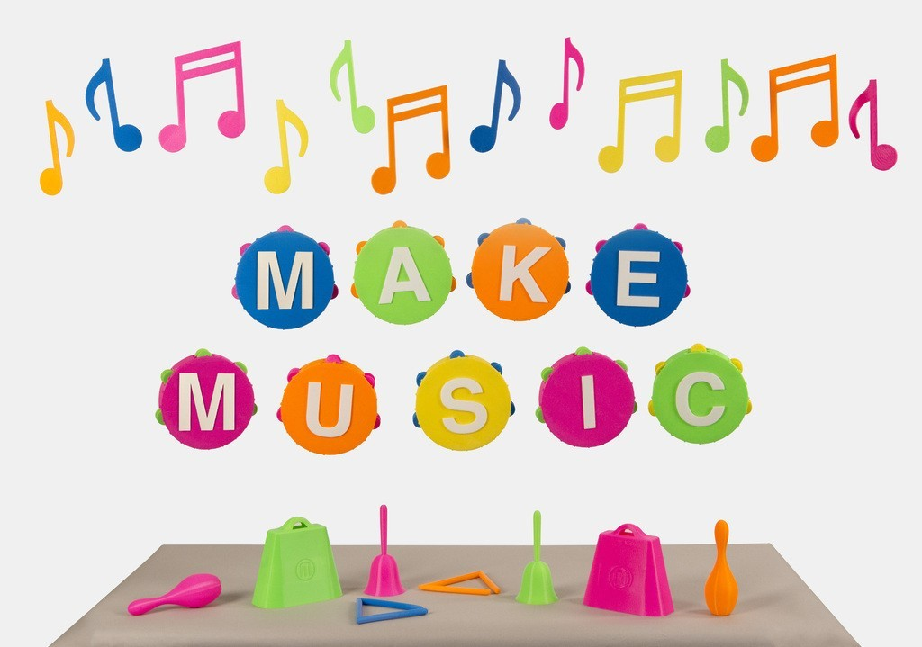 MAKE_MUSIC_display_large.jpg Download free STL file Musical Instruments Collection • Template to 3D print, Nairobiguy3D
