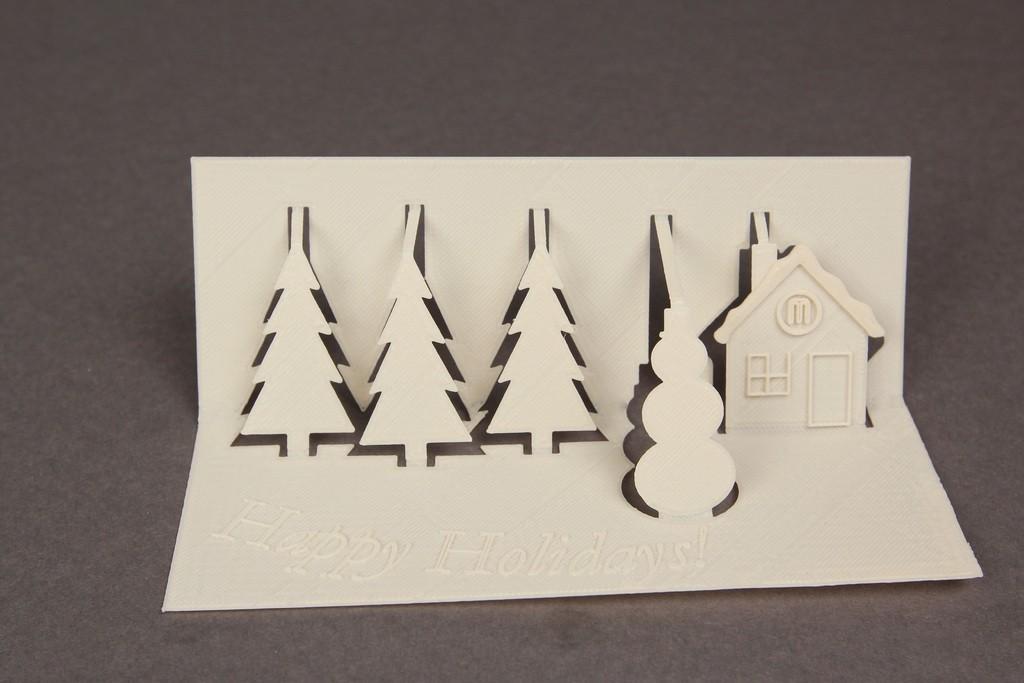 Holiday_Card02_display_large.jpg Download free STL file 3D Greeting Card • 3D printing model, Nairobiguy3D
