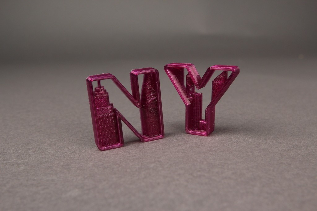 New_York_Letters_2_display_large.jpg Download free OBJ file NYC- New York Letters • 3D printable template, Nairobiguy3D