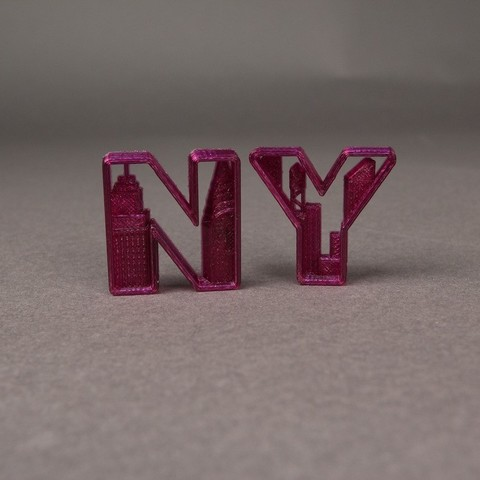 Download free 3D printing designs NYC- New York Letters, Nairobiguy3D