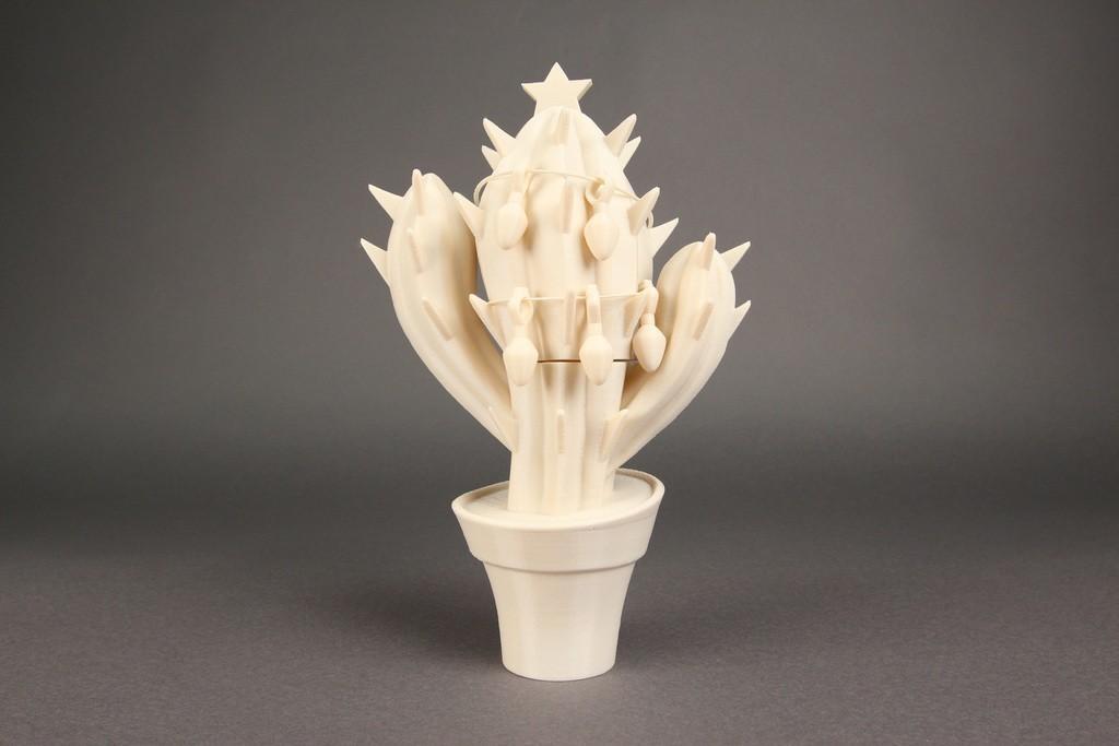 Christmas_Cactus01_display_large.jpg Download free STL file Christmas Cactus • 3D print design, Nairobiguy3D