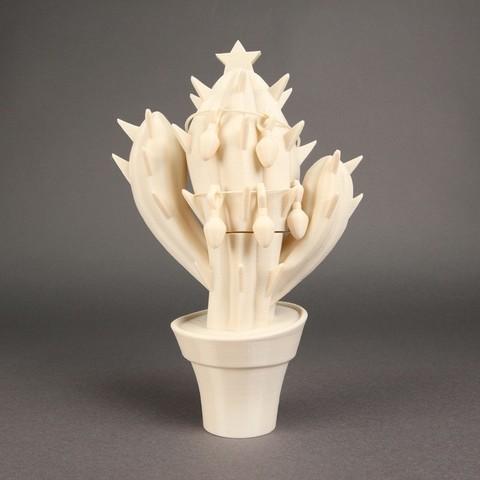 Télécharger modèle 3D gratuit Cactus de Noël, Nairobiguy3D