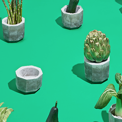 Free stl file Concrete Planters project by Mayku, Mayku