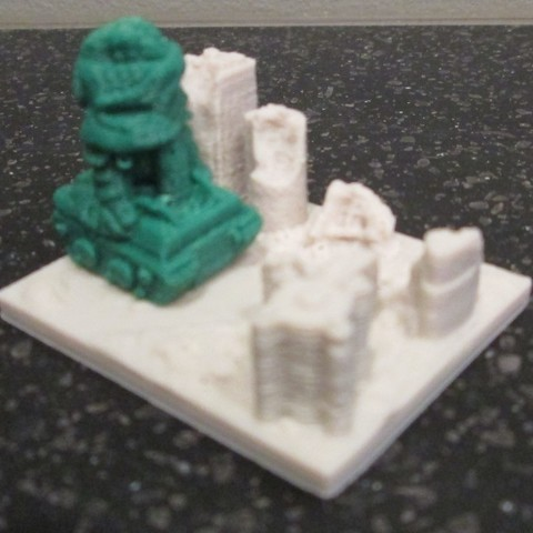Download free STL Giant Alien Tank attacks City!, wally3Dprinter