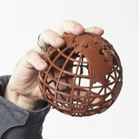 Download free 3D printing models Gridded Globe, wally3Dprinter