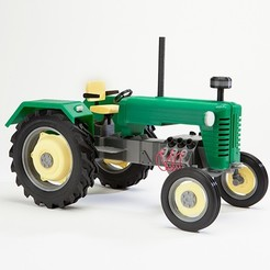 tractor_display_large.jpg Télécharger fichier STL gratuit Tracteur • Plan imprimable en 3D, wally3Dprinter