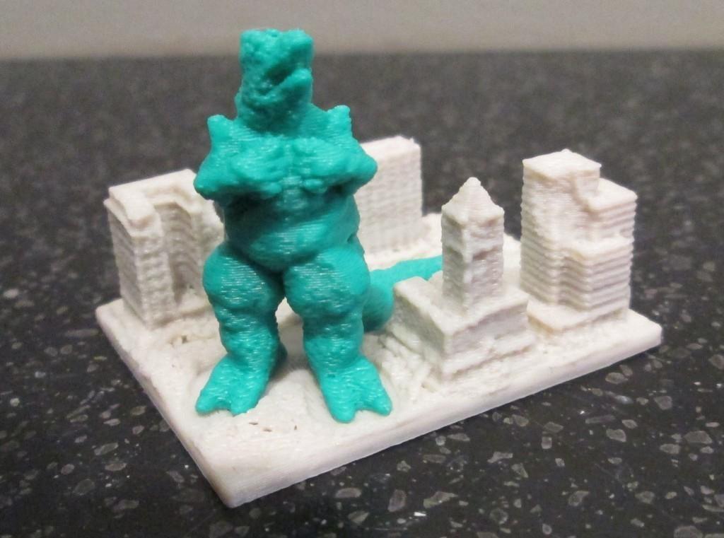 Lizard_display_large.jpg Download free STL file Giant Lizard Attacks City! • 3D printer design, wally3Dprinter