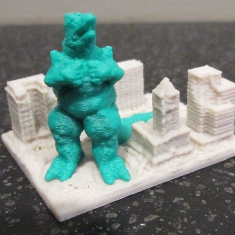 Download free 3D model Giant Lizard Attacks City!, wally3Dprinter