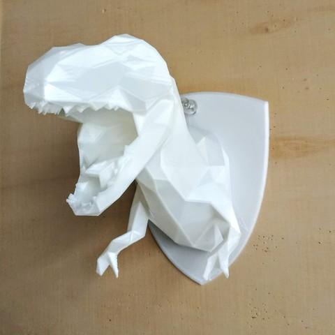 Download 3D print files Low Poly T-Rex bust trophy , LorisBottello