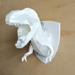 Télécharger modèle 3D Trophée bas buste Poly T-Rex, LorisBottello