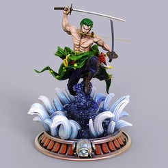 1.jpg Download STL file Roronoa Zoro One Piece • Template to 3D print, lilia3dprint
