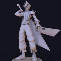 untitled.578.jpg Descargar archivo STL Cloud Final Fantasy  • Diseño para imprimir en 3D, lilia3dprint