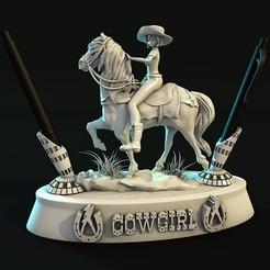 Descargar archivos 3D Pen Holder  Cowgirl 21 , lilia3dprint