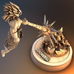 Descargar modelos 3D Broly Gogeta 003, lilia3dprint