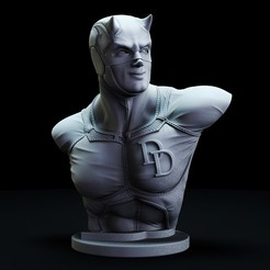 1.jpg Download STL file Daredevil Bust • 3D printable object, lilia3dprint